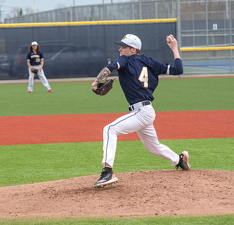 James Neiss/staff photographer <br /> Niagara Falls, NY - Niagara Falls #4 Treavor Janese pitches in the second inning of baseball game action against Lockport.