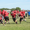 James Neiss/staff photographer <br /> Sanborn, NY - Niagara Wheatfield High School football practice.