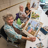 James Neiss/staff photographer <br /> Niagara Falls, NY - Danish needle painters, Anne Hesson of Niagara Falls, Phyllis Donovan and Teresa LaChance of Lewiston, show off their art at the John Duke Senior Center. The group meets every Wednesday from 10 a.m. - 3 p.m.