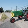 James Neiss/staff photographer <br /> Sanborn, NY - Retired dairy farmer Norman Human drives a 1949 Oliver 66 tractor he restored that will be on display at the Sanborn Area Historical Society 15th Annual Farm Museum Festival this weekend.