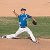 James Neiss/staff photographer <br /> Niagara Falls, NY - Niagara Power pitcher #26 Joseph Barberio winds up during baseball game action against Mansfield.