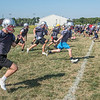 James Neiss/Staff Photographer<br /> Pendleton, NY - Starpoint football players run drills during practice.