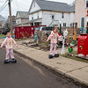 James Neiss/staff photographer <br /> Lockport, NY - Jayden Antonik, 10, joined by his sisters Jora Antonik, 8 and Brooklynn Brown, 12, play in front of their Church Street home with the Hoverboards they got for Christmas.