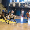 James Neiss/staff photographer <br /> Niagara Falls, NY - Niagara Falls Basketball players Willie Lightfoot and Josiah Harris go head to head during practice.