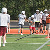 James Neiss/Staff Photographer<br /> Wilson, NY - Wilson High School football practice is in full swing at the schools new sports stadium.