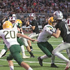 James Neiss/staff photographer <br /> Lockport, NY - Starpoint QB #8 Luke Davis looks to pass in the 1st quarter of football game action against West Seneca East.