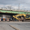 James Neiss/staff photographer <br /> Niagara Falls, NY - Cayuga Drive is blocked off at the intersection of the LaSalle Expressway and Buffalo Avenue for construction work.