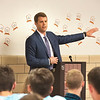 James Neiss/staff photographer <br /> Wilson, NY -Wilson Central School held their Breakfast of Champions honoring school athletes and featuring guest keynote speaker Patrick Beilein, Niagara University Men's Basketball coach.