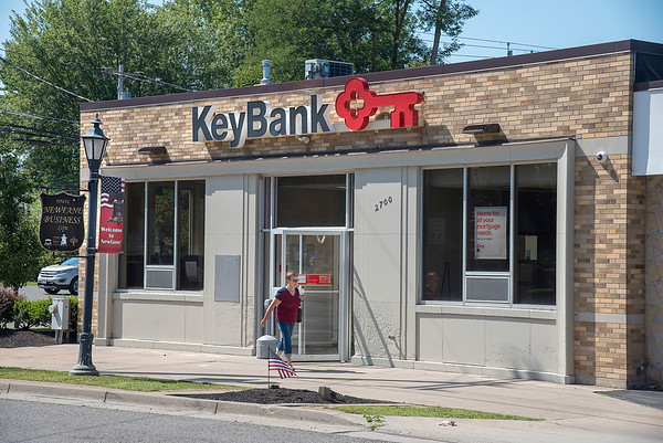 James Neiss/Staff Photographer<br /> Newfane, NY - The Newfane KeyBank has reopened after remediation work for toxic mold.