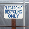 James Neiss/staff photographer <br /> Niagara Falls, NY  - Recycling sign at Niagara Falls DPW.