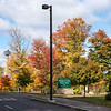 James Neiss/staff photographer <br /> Niagara Falls, NY - Fall color brightens up Goat Island at Niagara Falls State Park.