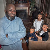 James Neiss/staff photographer <br /> Niagara Falls, NY - Donta Myles is running for Niagara Falls Council. Here, he is with his family, from left, Dylan 6, Dahlia, 9 and his wife Santia at their 16th Street home.