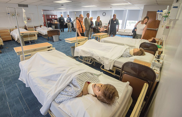James Neiss/staff photographer <br /> Lockport, NY - Guests check out the nursing classroom as they tour the building of the new Orleans/Niagara BOCES facility at 50 Main Street in Lockport.