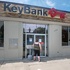 James Neiss/staff photographer <br /> Newfane, NY - Newfane Keybank customer Shauna Greeson of Gasport was greeted with locked doors due to toxic mold inside.
