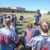 James Neiss/Staff Photographer<br /> Pendleton, NY - Starpoint football offensive coordinator Justin Bauman gives the team instructions during practice.