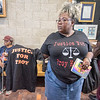 James Neiss/staff photographer <br /> Lockport, NY - Family friend Kinberly Jenkins came to City Hall seeking answers. Family, friends and concerned citizens descended on Lockport City Hall seeking justice for the death of Troy Hodge.