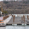 James Neiss/staff photographer <br /> Lewiston, NY - Work continues on the docks at Lewiston Landing.