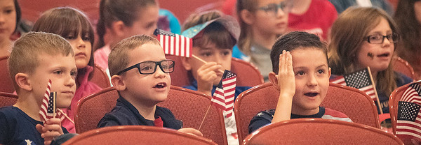 James Neiss/staff photographer <br /> Royalton, NY - Royalton-Hartland Elementary school students, staff and guests all celebrated Flag Day during an assembly at school.