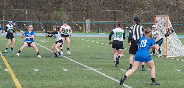 James Neiss/staff photographer <br /> Lewiston, NY - Grand Island #8 Beth Wolcott prepares to score against Lewiston-Porter  in girls Lacrosse game action at Lew-Port.