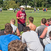 James Neiss/Staff Photographer<br /> Newfane, NY - Newfane High School football coach Chuck Nagel talks to his players during practice about the importance of being open to criticism and looking at it as a tool for personal growth.