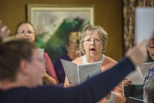James Neiss/staff photographer <br /> Lockport, NY - Liz Staley, director of The Lockport Chorus, said they will be singing in Newfane on Saturday October 19 and Mount View on December 17.