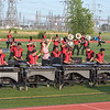 James Neiss/staff photographer <br /> Niagara Falls, NY - Heat Wave of Inverness, Florida, performs for the crowd at Niagara Falls High School. Niagara Falls High School hosted Drum Corps International presentation of Rhythm at the Rapids, a prelude to Drums Along The Waterfront.