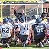 James Neiss/staff photographer <br /> North Tonawanda, NY - North Tonawanda High School football coach Rick Tomm talks to his team during practice.