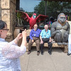 James Neiss/staff photographer <br /> Niagara Falls, NY - Long time friends, from left, Peggy Garvin, John Baker, Bill Garvin andJohn Micknowski, all of Pittsburg, take a happy snap among the attractions on Old Falls Street.