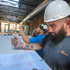 James Neiss/staff photographer <br /> Niagara Falls, NY - Project manager Randy Lada and installer Robert Batz work on the fire suppression systems as construction work continues at 616 Niagara.