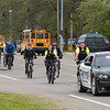 James Neiss/staff photographer <br /> Niagara Falls, NY - Bicyclists make their way along Hyde Park Boulevard. Community members joined the Niagara Falls Police for their annual Slow Ride through the City of Niagara Falls.