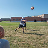 James Neiss/Staff Photographer<br /> Pendleton, NY - Starpoint football QB Carson Marcus passes the ball during practice.