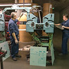 James Neiss/Staff Photographer<br /> North Tonawanda, NY - Niagara Gazette and Lockport Union Sun & Journal press operators Mike Kozlowski and Chas Cameron change the plates for the next press run.