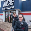 James Neiss/staff photographer <br /> Lockport, NY - Josh Ritchie and Cora Dellario of Spalding Ace Hardware.