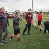 James Neiss/staff photographer <br /> North Tonawanda, NY - Tonawanda High School head coach Joe Kelly gives play instructions during practice.