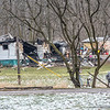 James Neiss/staff photographer <br /> Lockport, NY - Fire consumed a home at 294 Plank Road.