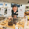 James Neiss/staff photographer <br /> Grand Island, NY - Taste NY Market Manager Renee Day shows off a selection of Dick & Jenny Brownies for sale at the NYS Visitors Center on Grand Island.
