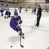 James Neiss/staff photographer <br /> Lewiston, NY - The Niagara University men's hockey team hit the ice at Dwyer Arean for an early morning practice on Columbus Day.