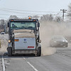 James Neiss/staff photographer <br /> Niagara Falls, NY - Niagara Falls DPW street sweeper, driven by Mike Edwards,  kicks up some dust as it makes its way down Niagara Falls Boulevard.