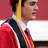 Roger Schneider | The Goshen News<br /> Benjamin Bontrager-Singer was one of the summa cum laude speakers during the Goshen High School commencement Sunday.