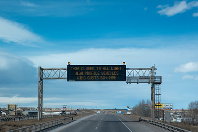 Wyoming Wind Alert Sign
