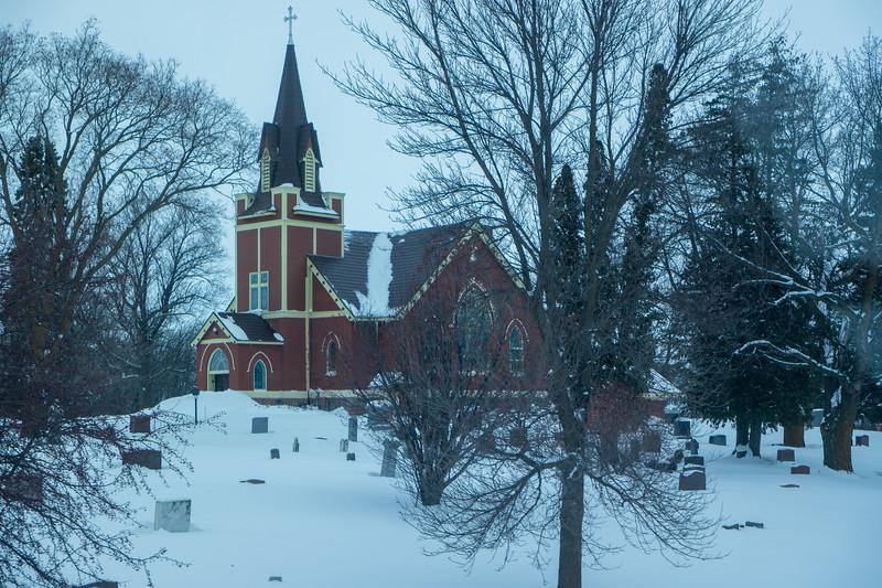 Minnessota Church And Graveyard