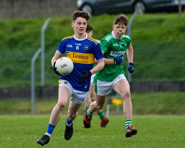 Tipperary's Donagh Hickey and Limerick's Cormac Woulfe during the Munster Minor Football Championship