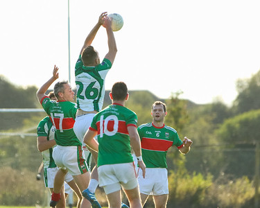 Cahir's Conor Cashman against Loughmore Castleiney's Willie Eviston, Aidan McGrath and Ciaran McGrath