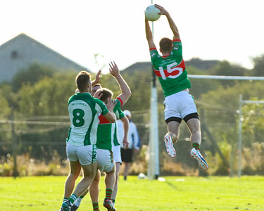 Loughmore Castleiney's John McGrath Jumps Highest with his brother Noel and Cahirs Liam Casey