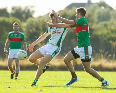 Cahir's Liam Casey against Loughmore Castleiney's John McGrath