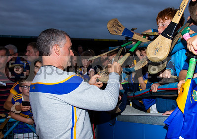 Tipperary's Manager Liam Sheedy meets young supporters during the Tipperary Senior Hurlers meet and greet night in Semple Stadium