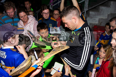 Tipperary's hurler Padraic Maher meets young supporters during the Tipperary Senior Hurlers meet and greet night in Semple Stadium