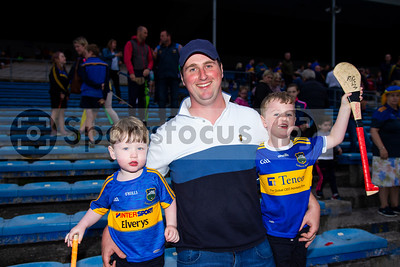 Enda Moran and his sons Eanna and Shane during the Tipperary Senior Hurlers meet and greet night in Semple Stadium