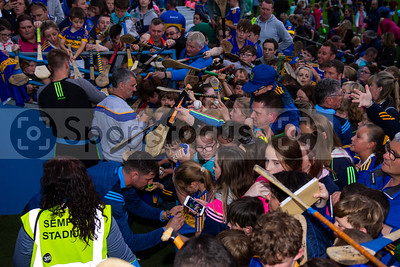 Tipperary's hurler Seamus Callanan and Manager LiamSheedy meets young supporters during the Tipperary Senior Hurlers meet and greet night in Semple Stadium