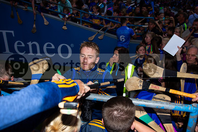 Tipperary's hurler Noel McGrath meets young supporters during the Tipperary Senior Hurlers meet and greet night in Semple Stadium